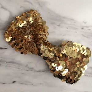 Accessories - 🍊 Gold Sequin Hair Clip Bow